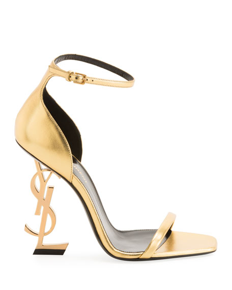 Opyum YSL Logo-Heel Sandals