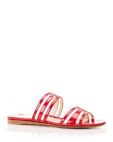 Jojo Geometric Patent Leather Sandals by Marion Parke