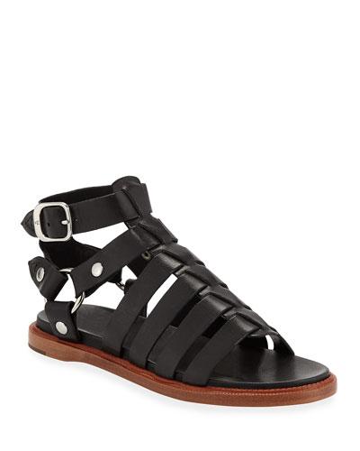 Andora Leather Gladiator Sandals