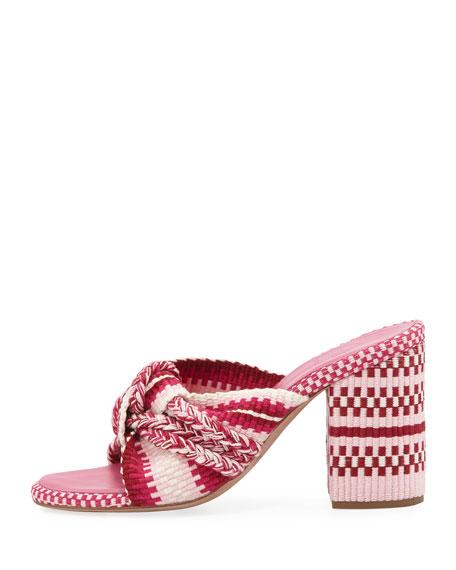 Biagia Block-Heel Slide Sandals
