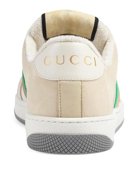 Screener Low-Top Leather Sneakers