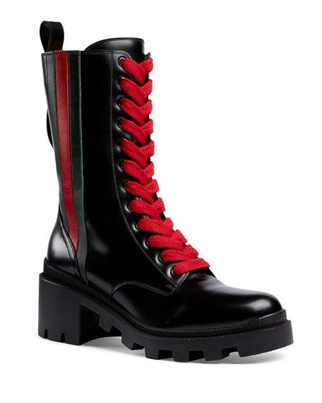 Trip Mid-Calf Combat Boots