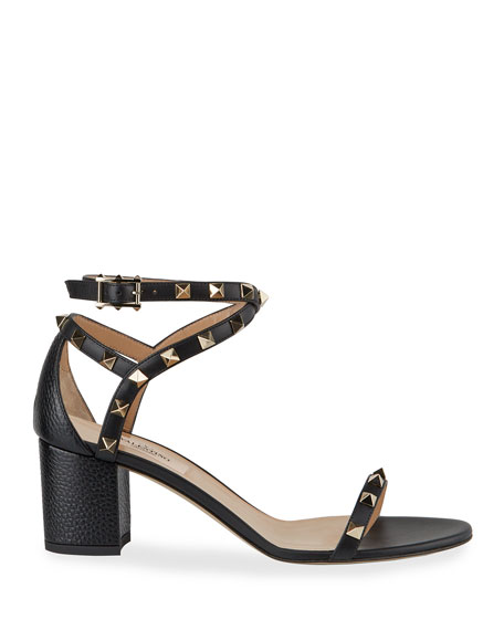 60 mm Rockstud Leather Sandals