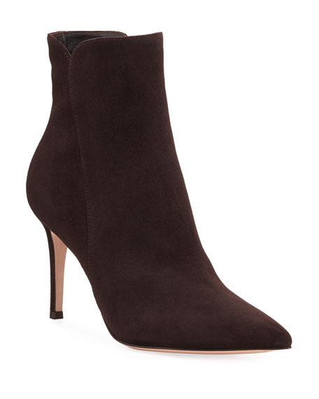 Levy Suede 85mm Point-Toe Booties