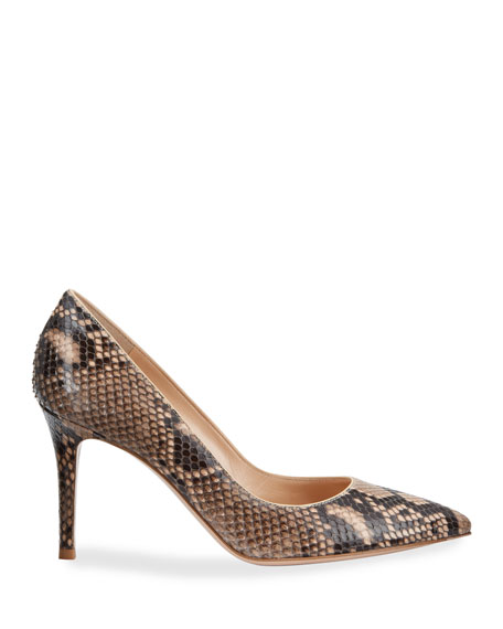 Python Pointed-Toe Pumps