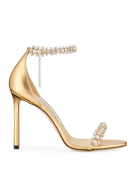 Shiloh Metallic Crystal Sandals