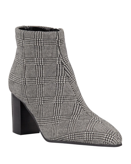 Image 1 of 1: Florita Plaid Zip Booties