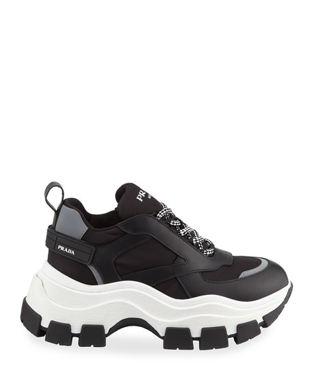 Lace-Up Chunky Platform Sneakers