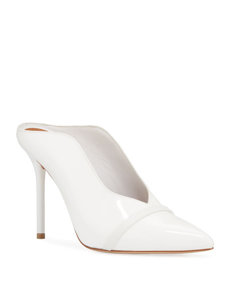 Image 1 of 1: Patent Leather High-Sided Mules