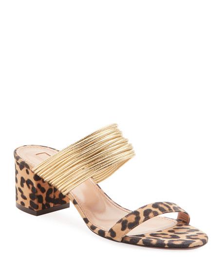 Rendez Vou Leopard Jacquard Sandals