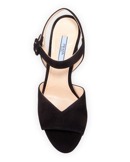 105mm Suede Platform Sandals