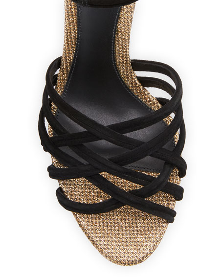Berthe Strappy Glittered Platform Sandals
