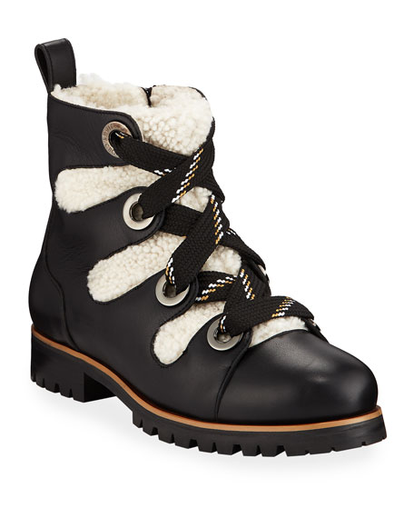 Image 1 of 1: Bei Flat Booties with Shearling