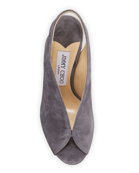 Shar Dipped Suede Slingback Pumps