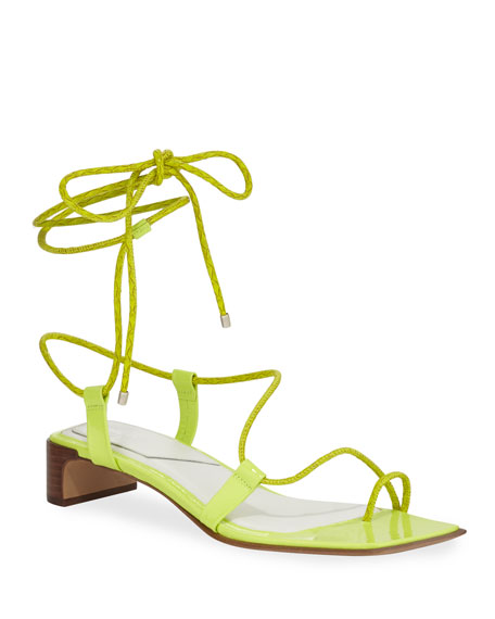 Cindy Leather Ankle-Tie Sandals