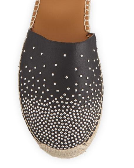 Studded Flat Ankle Espadrilles