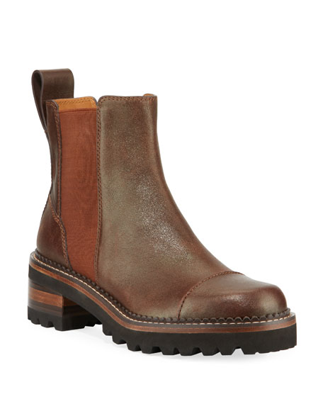Leather Lug-Sole Chelsea Boots