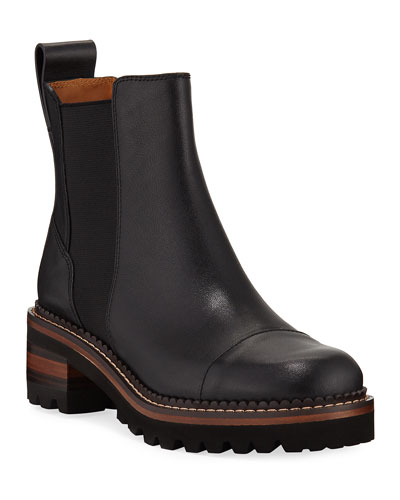 30mm Leather Lug-Sole Chelsea Boots