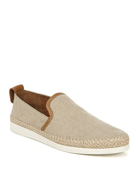 Image 1 of 1: Silas Linen & Leather Slip-On Sneakers