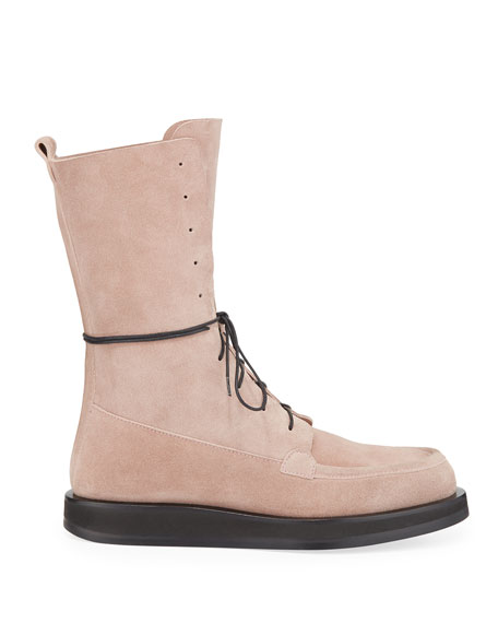 Patty Suede Lace-Up Combat Boots