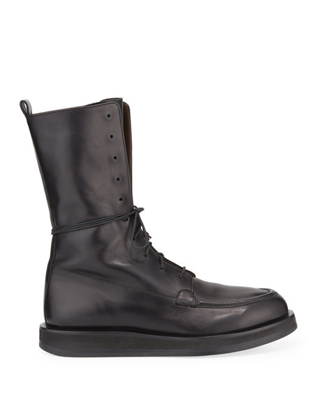 Patty Leather Lace-Up Combat Boots