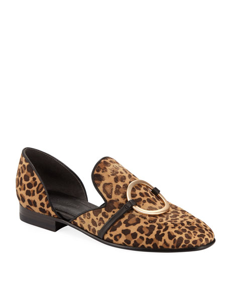 Image 1 of 1: Ianthey Leopard Flat Loafers