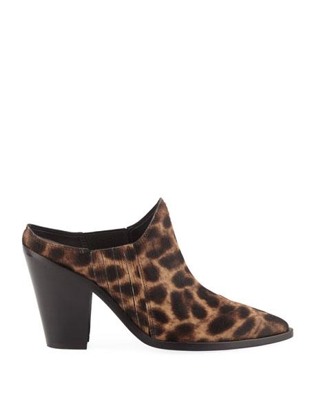 Kadenly Leopard Mule Booties