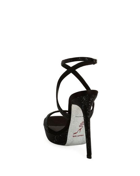 Krisa Brita Crystal Crisscross Sandals
