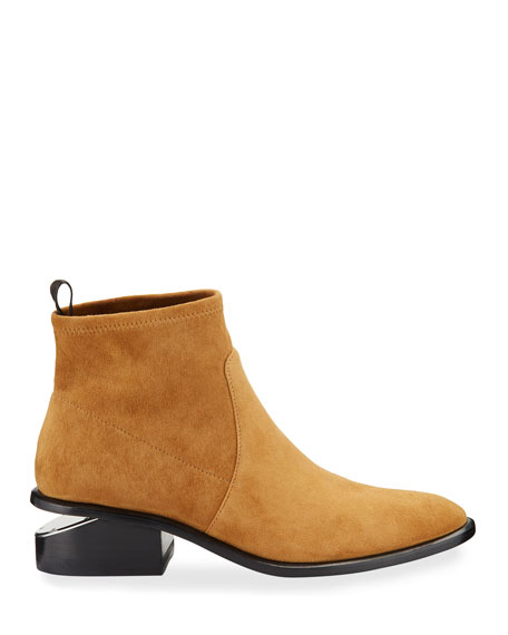 Kori Stretch-Suede Low Booties