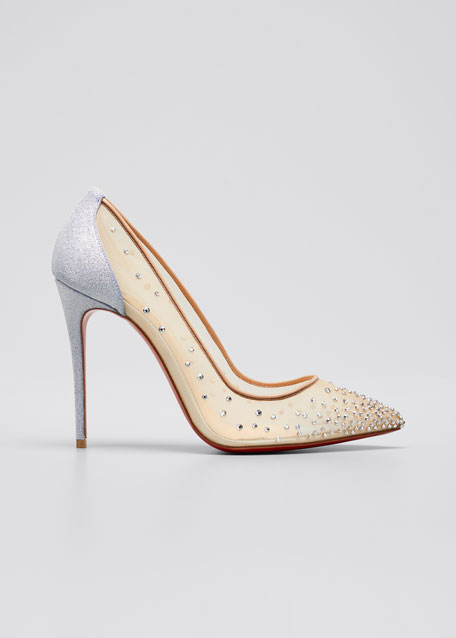 Foilles Strass Red Sole Pumps