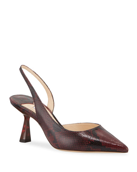 65mm Fetto Snake-Print Leather Pumps