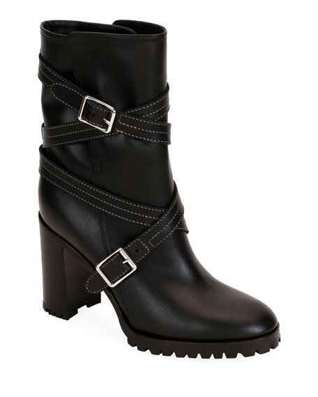 Calf Leather Wrapped Boots