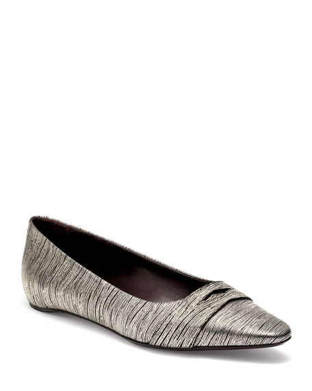 Wave Leather Ballet Flats