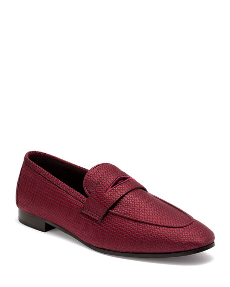 Image 1 of 1: Pois Canvas Penny Loafers