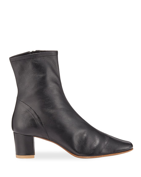 Sofia Leather Ankle Booties