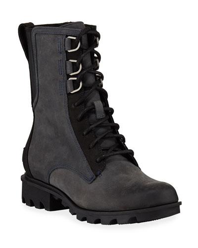 Phoenix Waterproof Leather Combat Boots