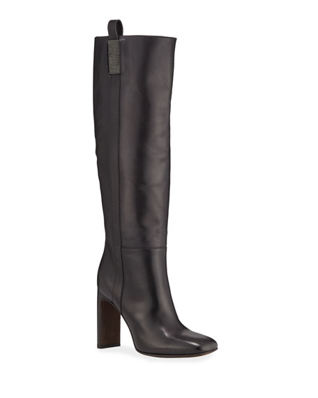 Image 1 of 1: Matte Calf Tall Knee Boots