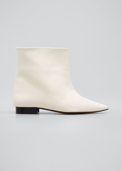 Leandra Short Leather Booties