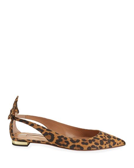 Deneuve Leopard Ballet Flats