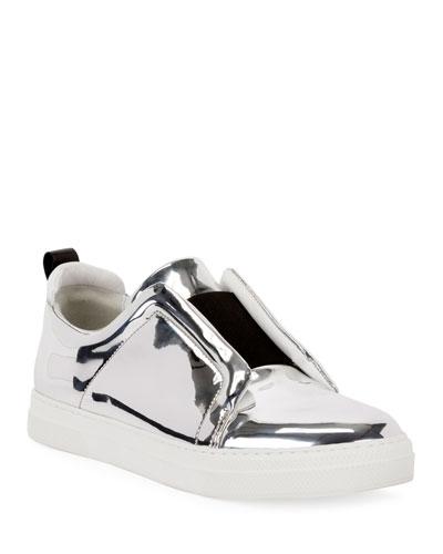 Slider Mirrored Low-Top Sneakers