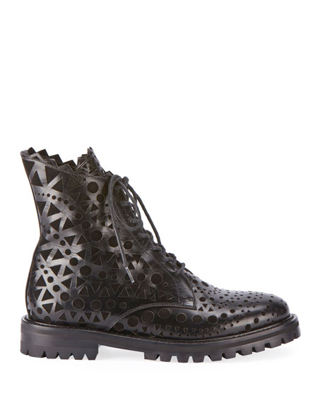 Laser-Cut Leather Booties