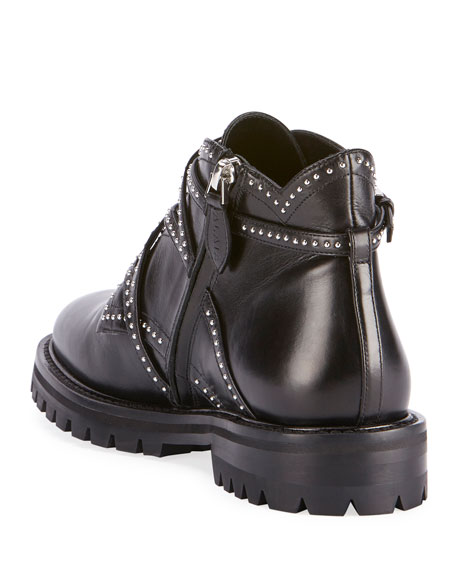 Studded Wrap Ankle Booties