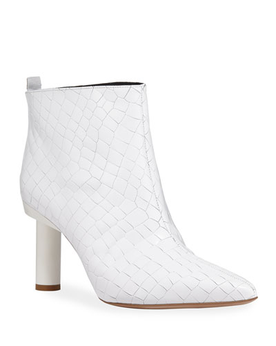 Theo Croc-Embossed Booties