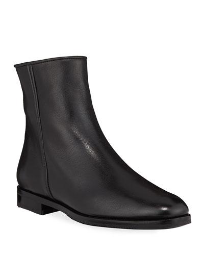 Calfskin Side-Zip Booties