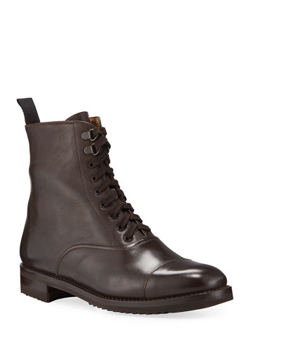 Leather Lace-Up Hiker Boots