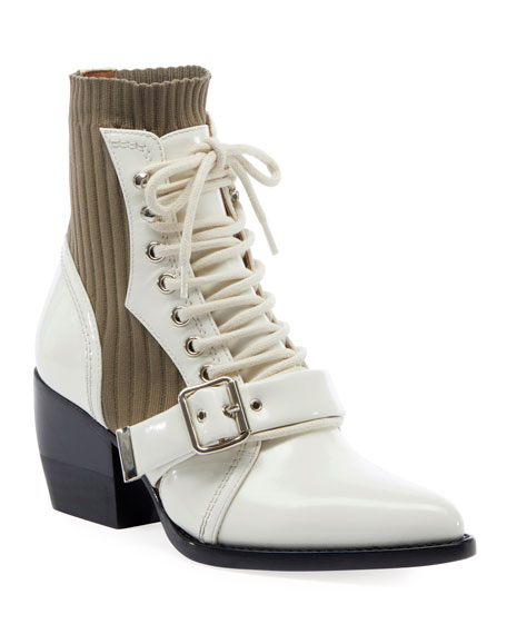 Rylee Leather and Stretch Booties
