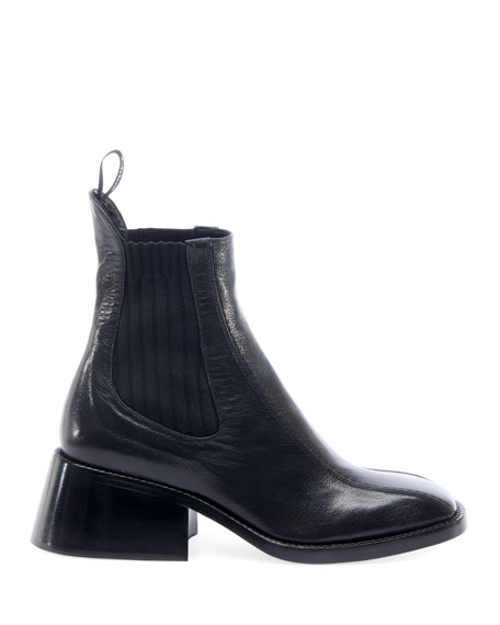 Bea Gored Leather Booties
