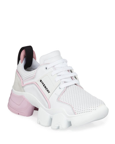 Jaw Low-Top Leather Sneakers  White