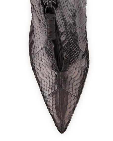 Ifima Snakeskin Zip Booties