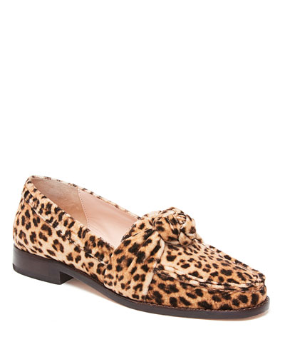 Elina Leopard Knot Loafers
